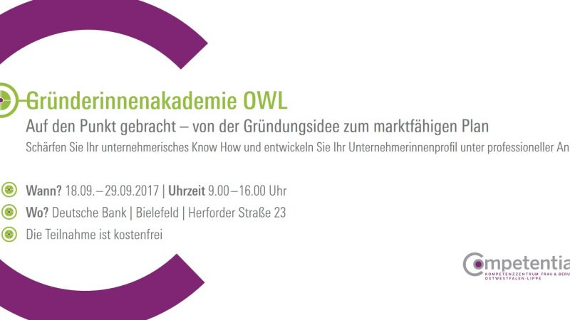 Gründerinnenakademie OWL