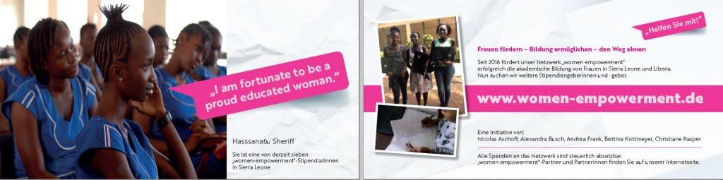 women empowerment Postkarte