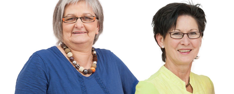 Get Together Elke Radon und Eva Sperner Gleichstellungsbeauftragte Halle und Werther