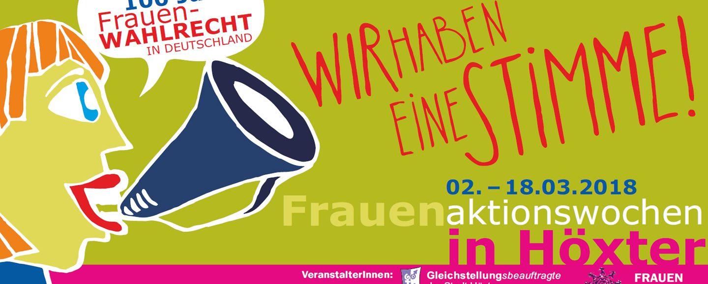 Frauenaktionswochen in Höxter 2018