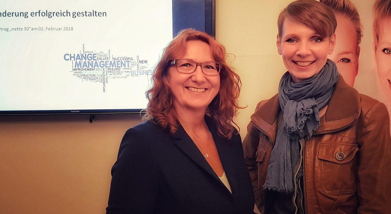 Veränderung erfolgreich gestalten – Business Coach Rena Blindell zu Gast in der nette30