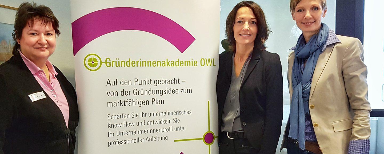 Kompetenzzentrumm Frau und Beruf OWL - Gründerinnenakademie OWL 2018