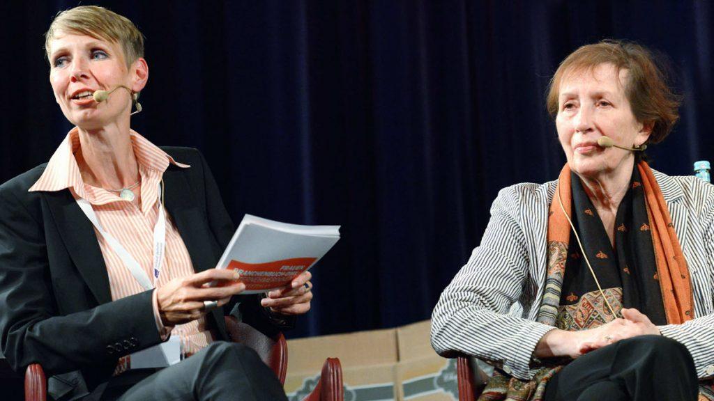 Michaela Heinze Moderatorin und Netzwerkerin mit Heide Simonis,Ministerpräsidentin a.D.