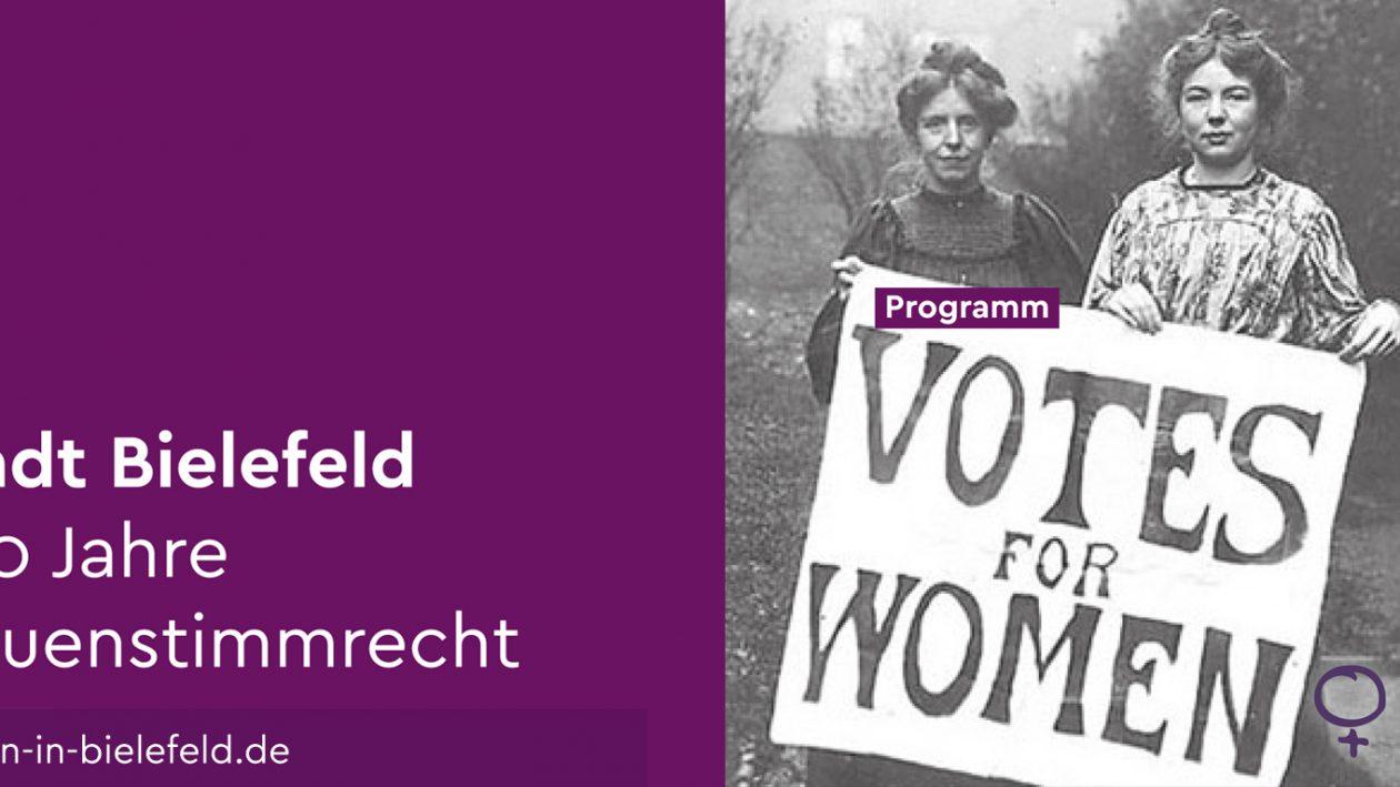 Bielefeld 100 Jahre Frauenwahlrecht