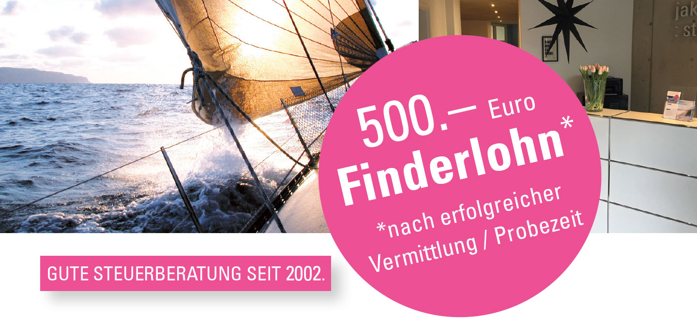 500 Euro Finderlohn Steuerberatung Jakomeit-Kürbis sucht Verstärkung